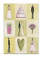 Roger la Borde グリーティングカード 結婚祝い (新郎×新婦×ウェディング×グリーン)