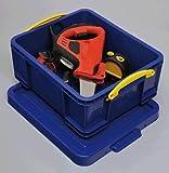 不二貿易 プラスチック 収納 ケース ボックスタイプ 18L(CD:93枚・DVD44枚) ブルーR.U.BOX (幅48x奥行39cm) 20791