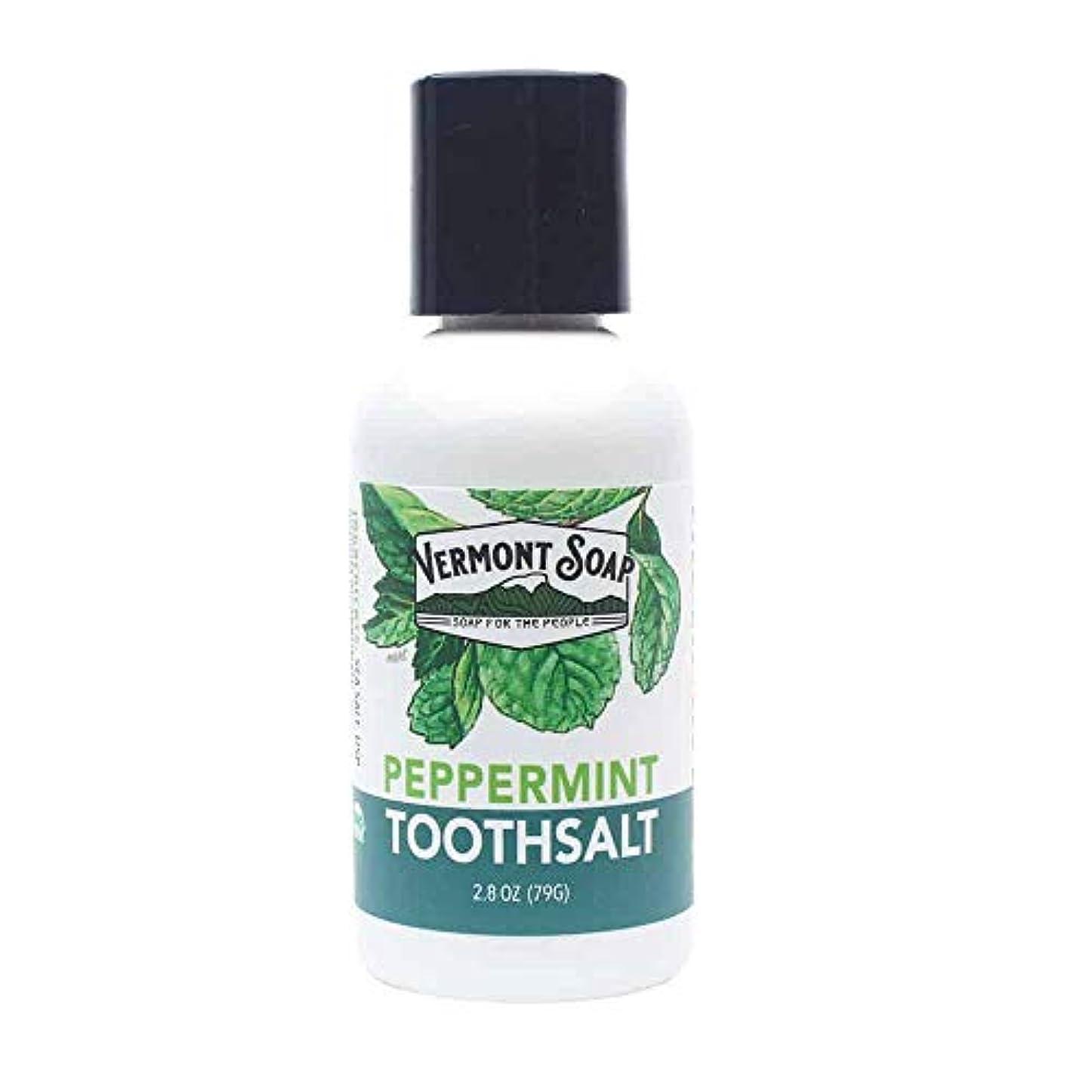 制限されたする離れたバーモントソープ 塩歯みがき 口臭予防 (L)
