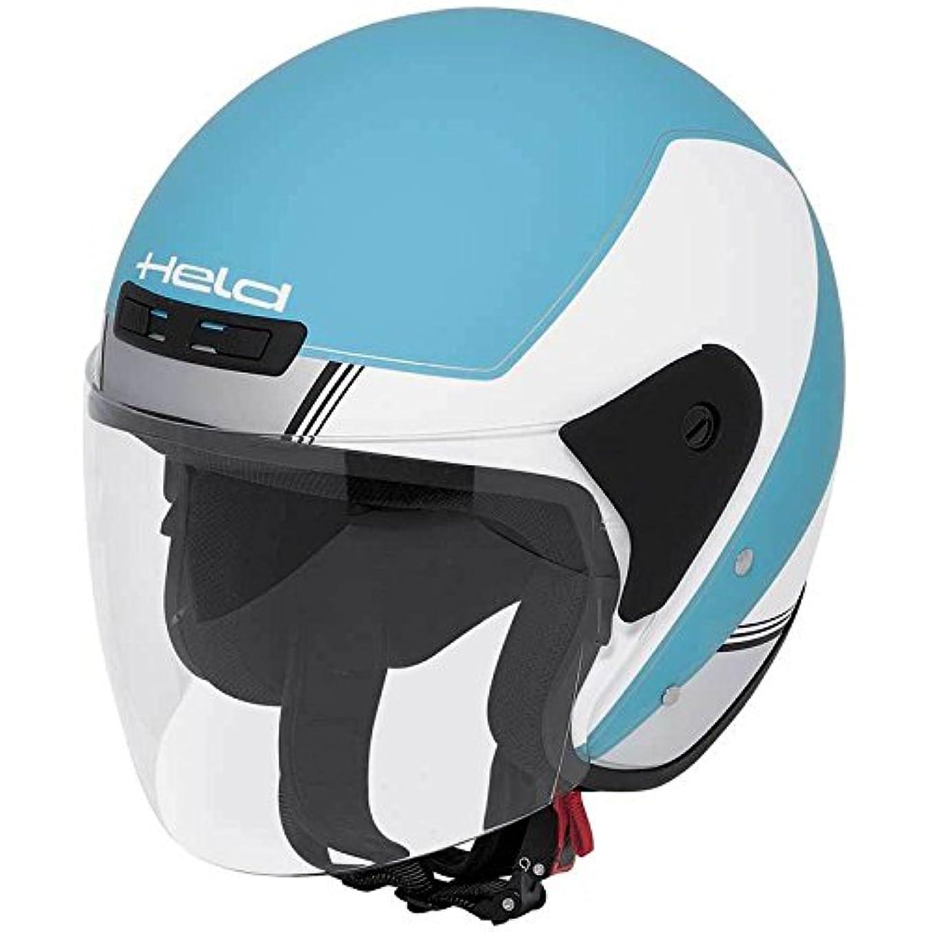 確かめる対処鮮やかなHeld ヘルド Heros Decor 2014 Helmet ジェットヘルメット ホワイト/ブルー L(59~60cm)