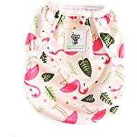 Swimming Nappies - Stylish Swim Nappies Reusable for Baby & Toddler by Sarah-Jane Collection. Eco-Friendly, Washable, Grows with Your Baby - One Size fits All - (Pink Flamingo)