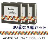 Pavilio MINI / パビリオ ミニ 《3個セット》MINI Windmill Red / ミニ ウィンドミル レッド レーステープ 10mm× 6m