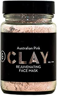 Caim & Able Australian Pink Clay Face Mask 50g with Kaolin Clay & Organic Hisbiscus - Pure Australian Made Vegan Natural Pre