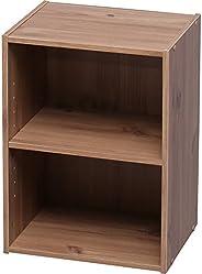 アイリスオーヤマ カラーボックス 収納ボックス 本棚 2段 可動棚 幅36.6×奥行29×高さ49.4cm ナチュラル モジュールボックス MDB-2K