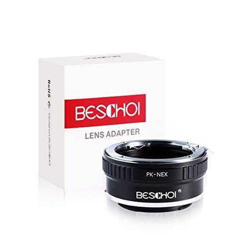 Beschoi マウントアダプター PK-NEX ペンタックスKマウントレンズ- Sony NEX Eマウントカメラ対応レンズアダプター レンズマウントアダプター 高精度 高品質