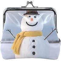 がま口 財布 口金 小銭入れ ポーチ 雪だるま かわいい Jiemeil バッグ かわいい 高級レザー レディース プレゼント ほど良いサイズ