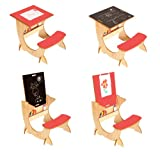 Little Helper リトル ヘルパー お絵かき黒板付き4WAY子供用テーブルイスセット 赤 メープル・レッド