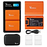 Vemico NP-FZ100 バッテリー 充電器 キット 互換バッテリーパック 2個+充電器セット 大容量2280mAh LCD付き 対応機種 Alpha 9 Alpha 9..