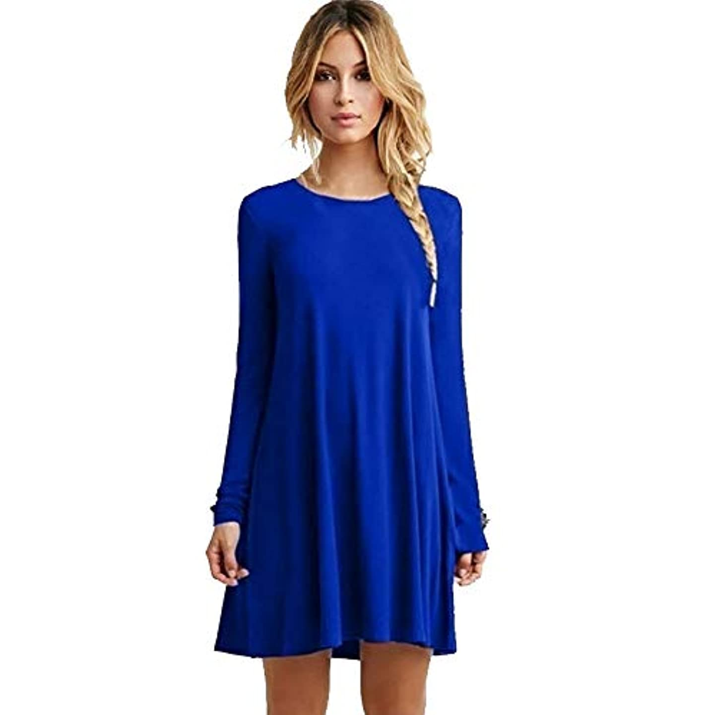 活発料理パーツMIFANルースドレス、プラスサイズのドレス、長袖のドレス、女性のドレス、秋のドレス、マキシドレス、コットンドレス