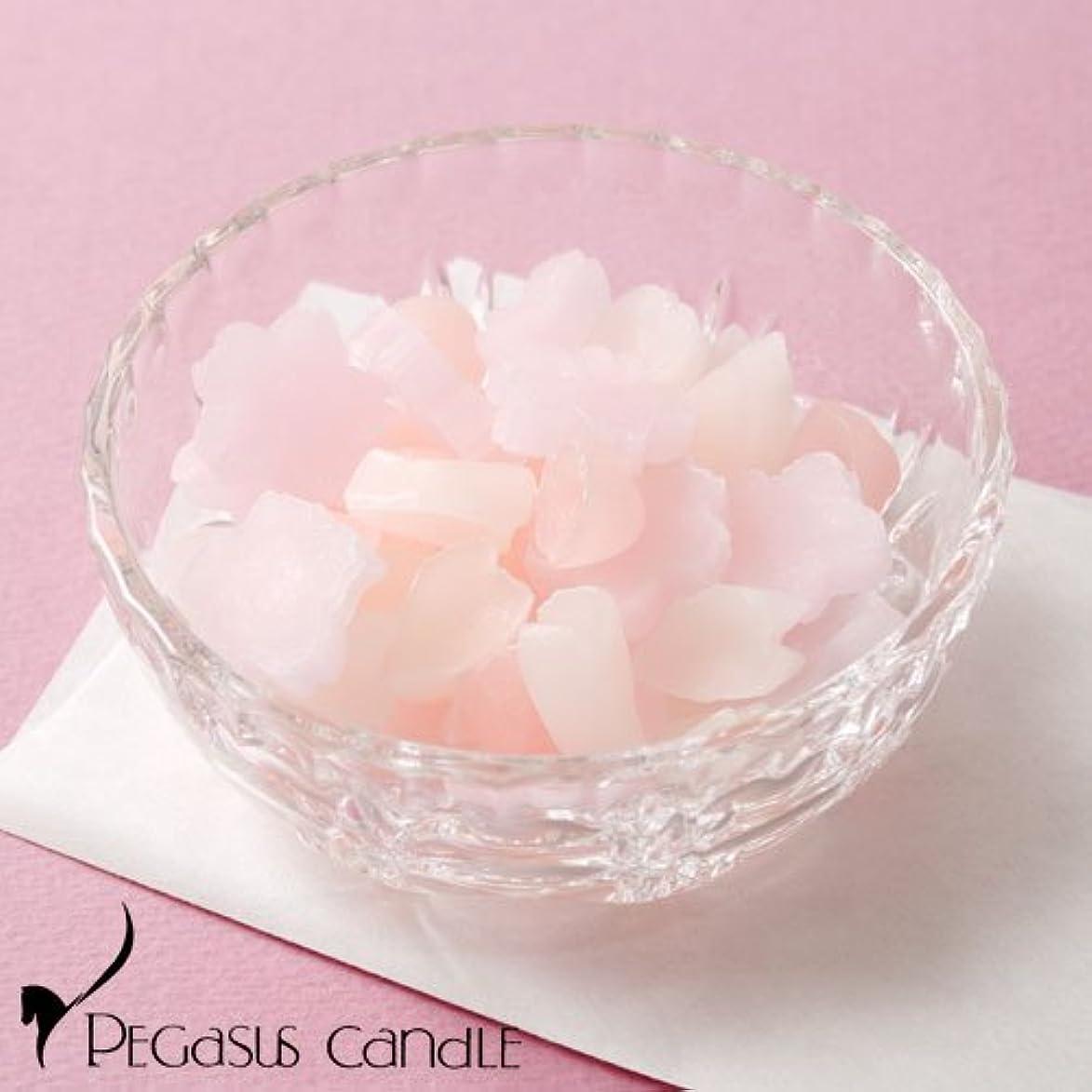 アンペア課す致命的さくらのかおりガラス器付きの桜の芳香剤ペガサスキャンドルSakura fragrance