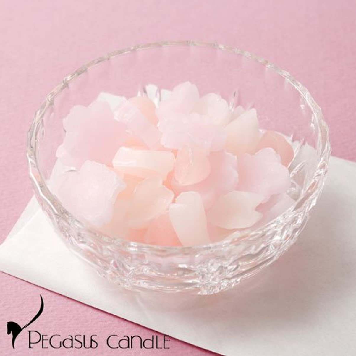 ビール代表して付与さくらのかおりガラス器付きの桜の芳香剤ペガサスキャンドルSakura fragrance