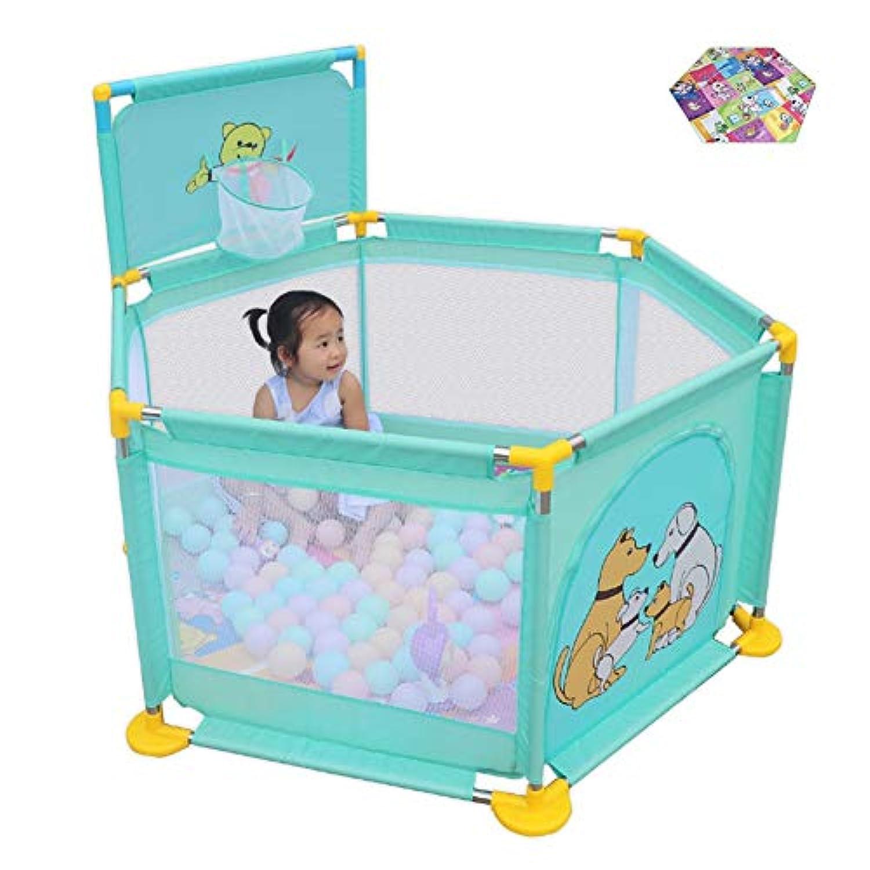 ベビーサークル, 幼児用プレイプレーン、クロールマットとシューティング、幼児用プレイヤード、アンチロールオーバー&6パネル - 身長66cm (サイズ さいず : Style 2)