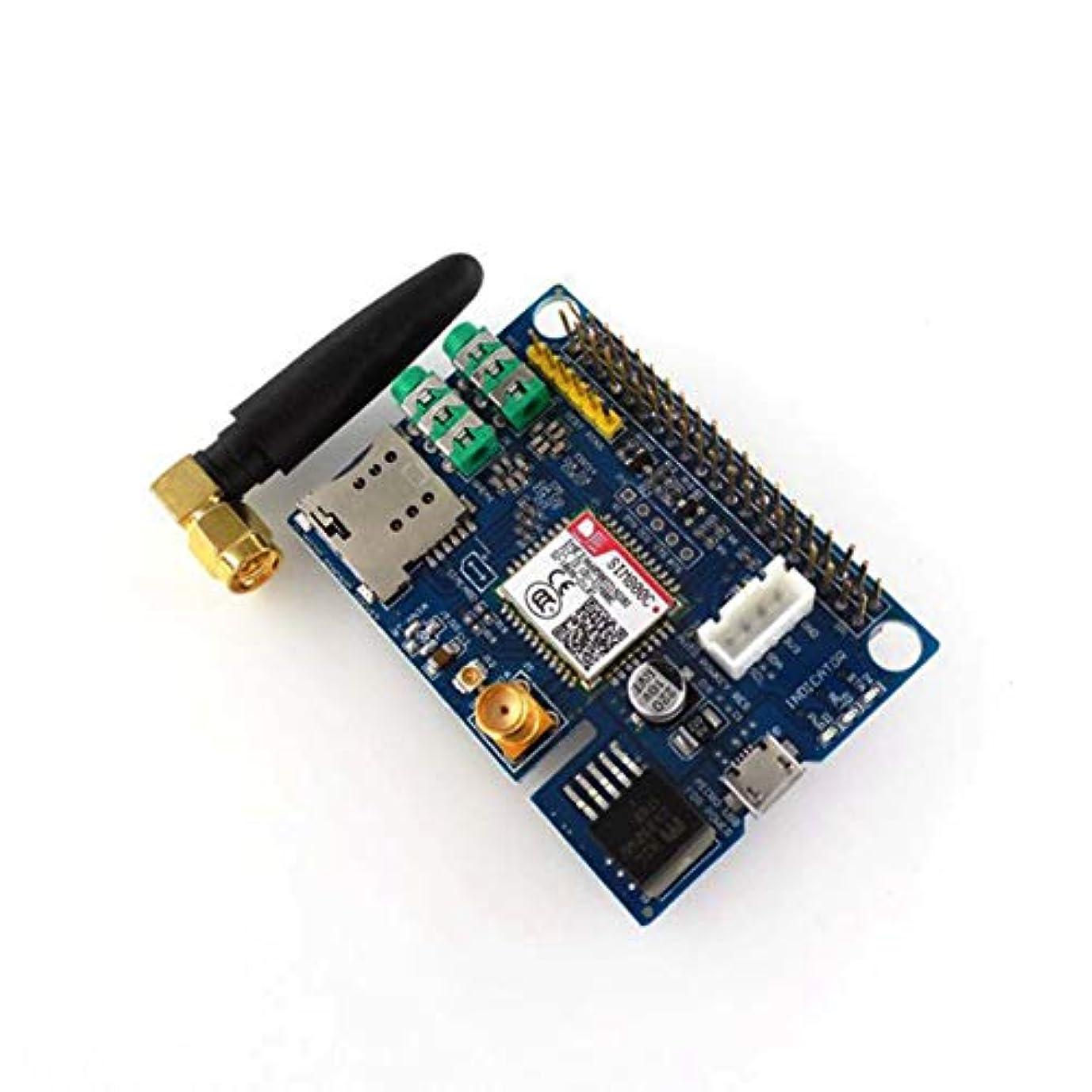 腹調和苦痛Raspberry Piに適したプロフェッショナルな小型SIM800C GSM GPRSモジュールクワッドバンド開発ボードモジュール-ブルー&シルバー