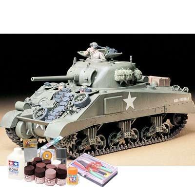 プラモデル製作セット 1/35 アメリカ M4シャーマン戦車 (初期型)