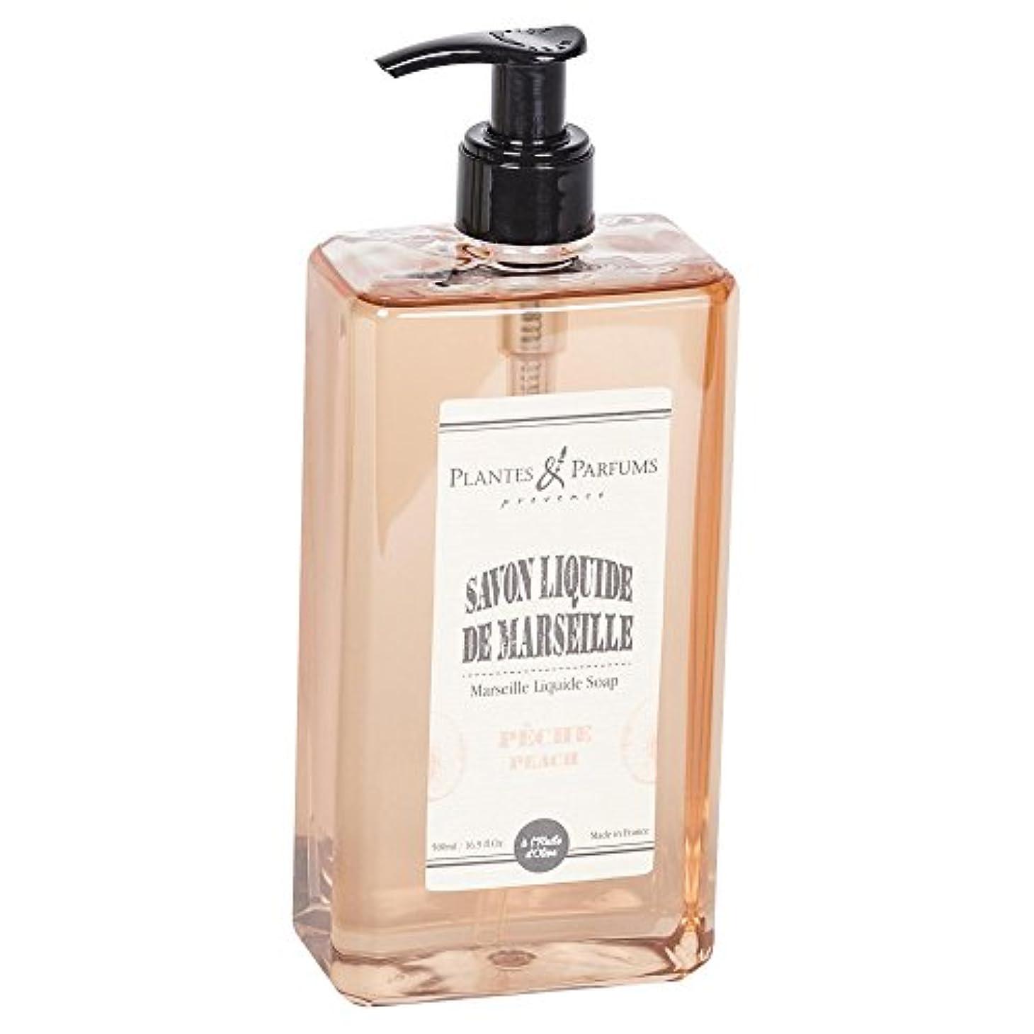 禁止するブラウンコンテストPlantes&Parfums [プランツ&パルファム] マルセイユリキッドソープ ピーチ