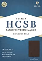 Holy Bible: Holman Christian Standard Bible, Brown, Genuine Cowhide, Personal Size Reference Bible