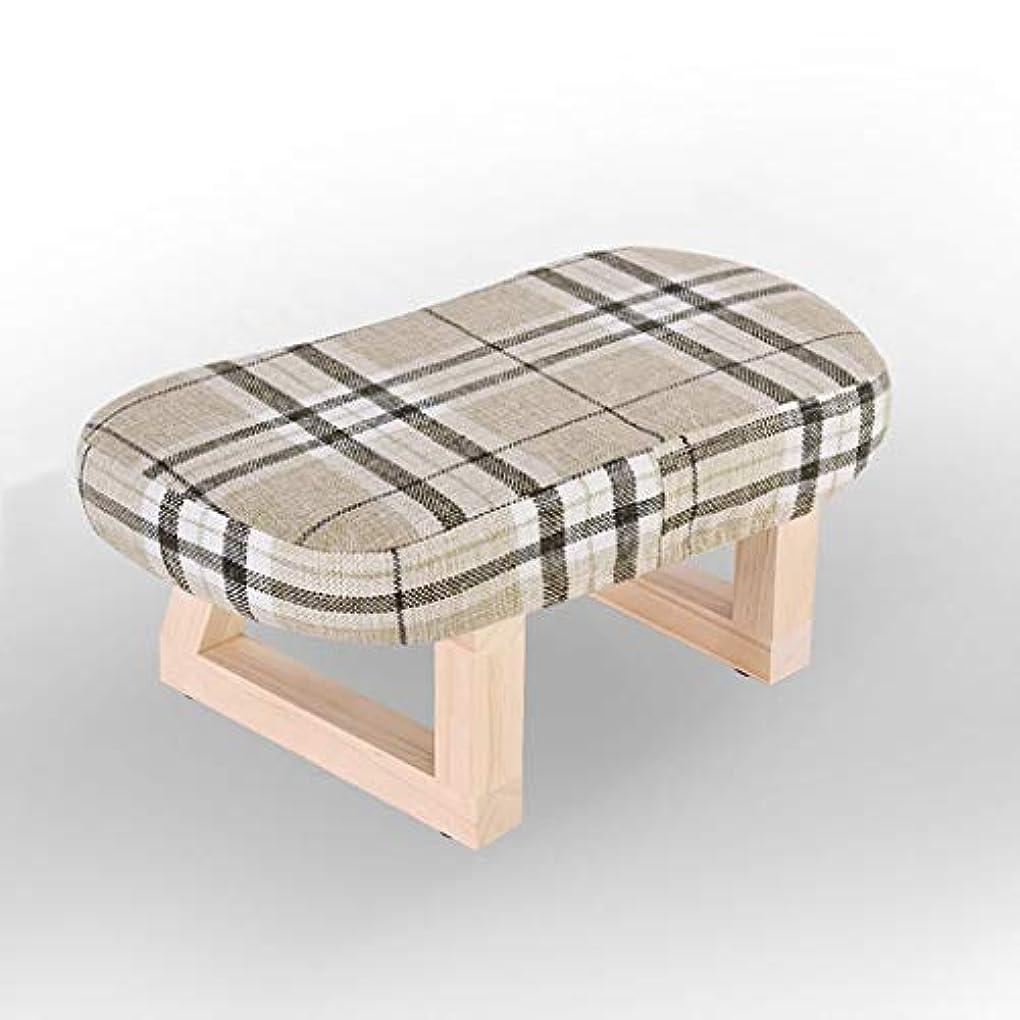デクリメント煙真面目なXJLXX リビングルーム木製スツールホームウェアシューズ小さなベンチ寝室の生地ソファスツール ソファースツール (Color : Multi-colored)