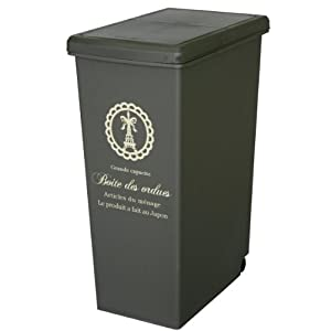 ゴミ箱 スライドペール 45L 日本製 ブラウン