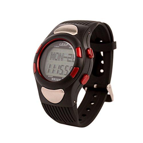 (Ckeyin) 心拍計 腕時計 歩数計 スポーツウォッチ 30m防水 レディース メンズ兼用(電子版日本語取説付き)
