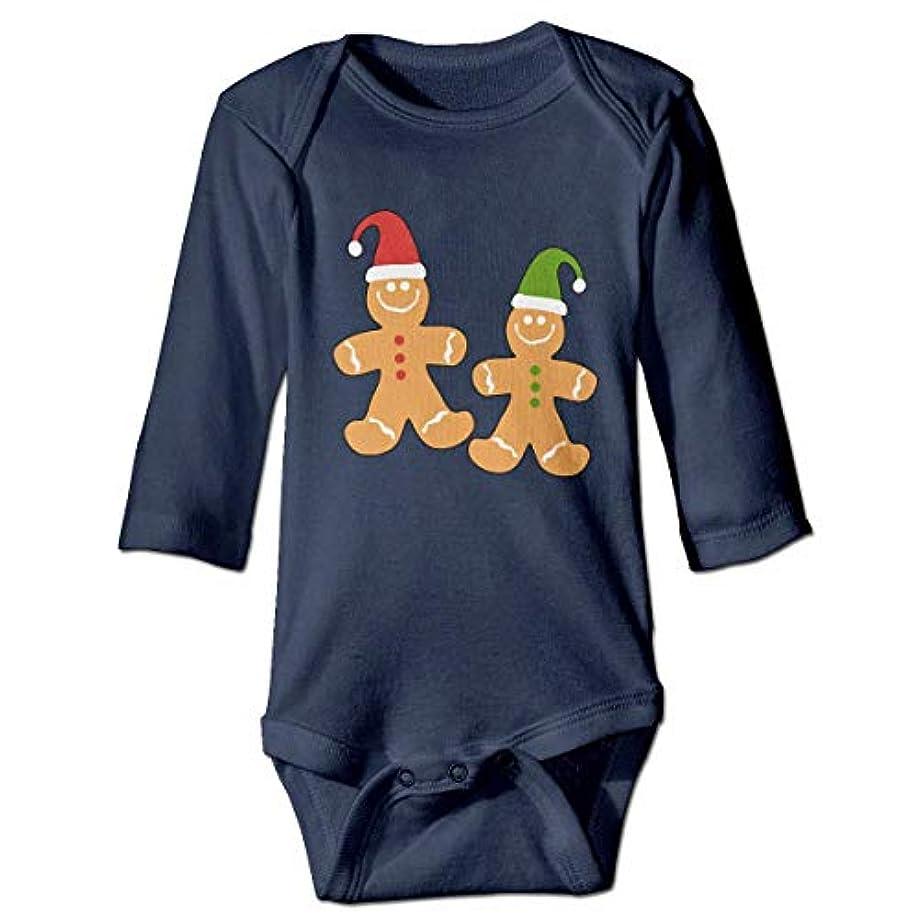 柔らかい足擬人化誰もNMDJC CCQジンジャーブレッドマンメリークリスマスベビーボディスーツかわいいOnesieソフト衣装コスチューム、18M