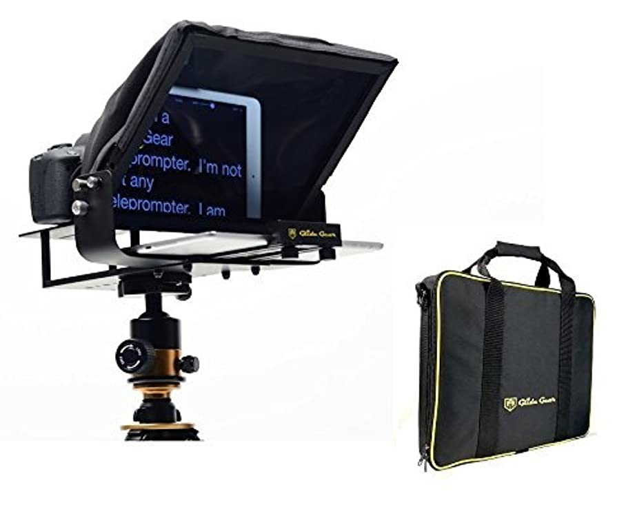 肥沃なにぎやか追い出すGlide Gear TMP100 Adjustable iPad/Tablet/ Smartphone Teleprompter Beam Splitter 70/30 Glass w/Carry Case No Plastic All Metal/No Assembly Required [並行輸入品]