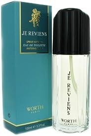 Worth Je Reviens for Women Eau de Toilette Spray, 100ml, 3.3 Ounces, Multi (117575)