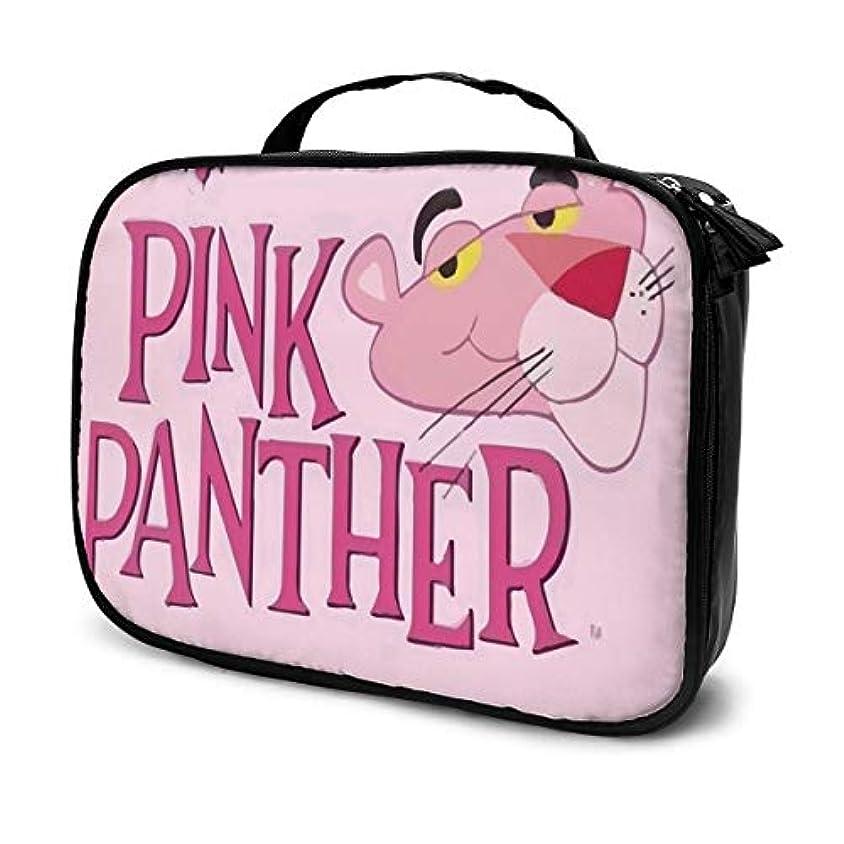 適度に上いうピンクパンサー 化粧ポーチ 大容量 コンパクト収納 旅行で持ち運びが簡単 おしゃれ 人気