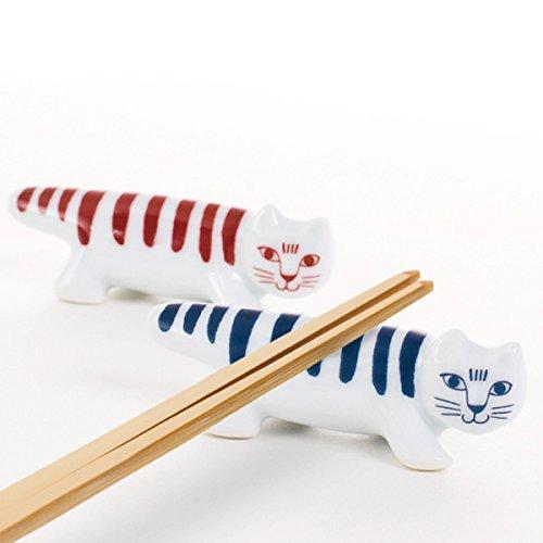 箸置き マイキー 波佐見焼 リサラーソン LISA LARSON MIKEY HASHIOKI SET red/blue