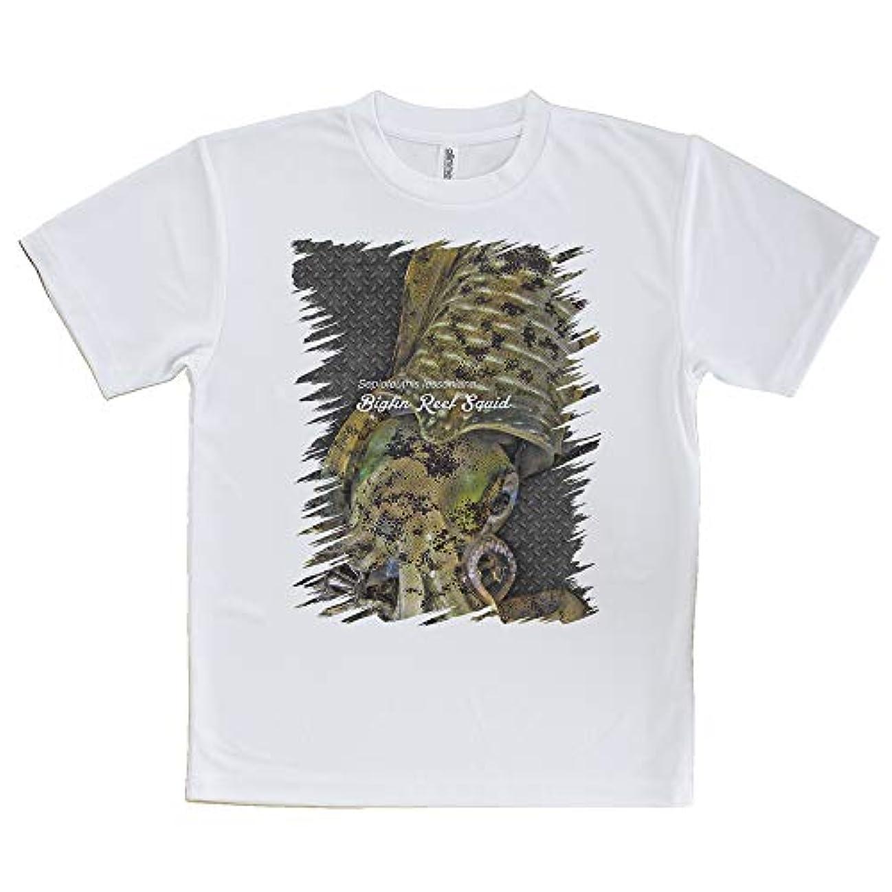 AnglersLife Tシャツ エギングにアオリイカ United Athle(ユナイテッドアスレ) ホワイト 白 ポリエステル100% 4.1oz UTF30