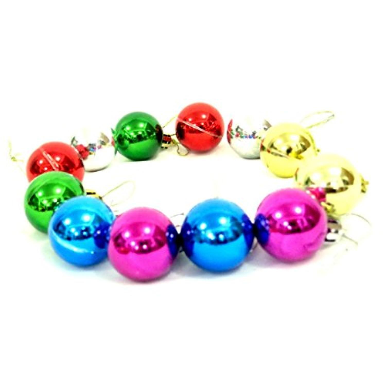 教育おもちゃ、baomabaoツリーデコレーション12個クリスマスボールBaublesパーティークリスマスHanging Ornament Decor