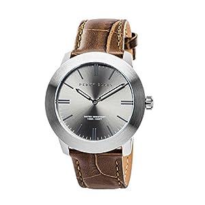 [ペリー・エリス]Perry Ellis 腕時計 SLIM LINE(スリム・ライン) クォーツ 42 mmケース 本革バンド 07010-01 メンズ 【正規輸入品】