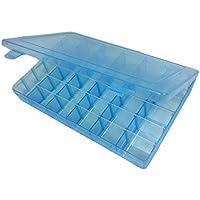 SODIAL 36 グリッドボックスケースプラスチックボックスストレージ ジュエリーマニキュアメイクアップボックス ブルーカラー