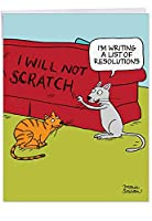 Cat Resoutions新しい年Funny Greeting Card 1 Jumbo New Year Card & Enve. (J4521NYGC)