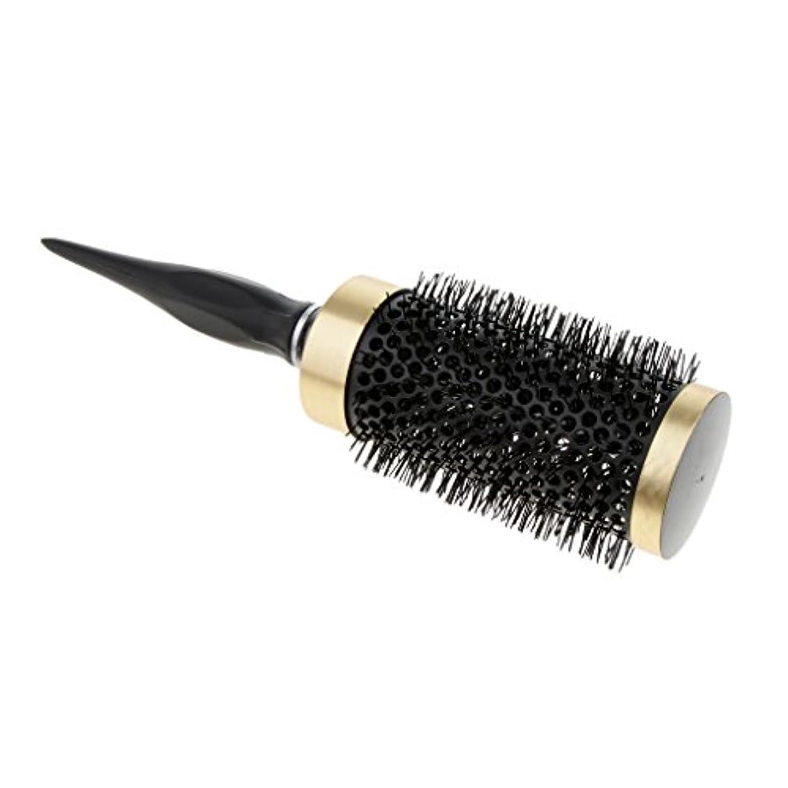 マイナー人柄多数のロールブラシ ヘアブラシ ナイロンブラシ 静電気防止 カーリング 巻き髪ヘア 全5サイズ - 52mm