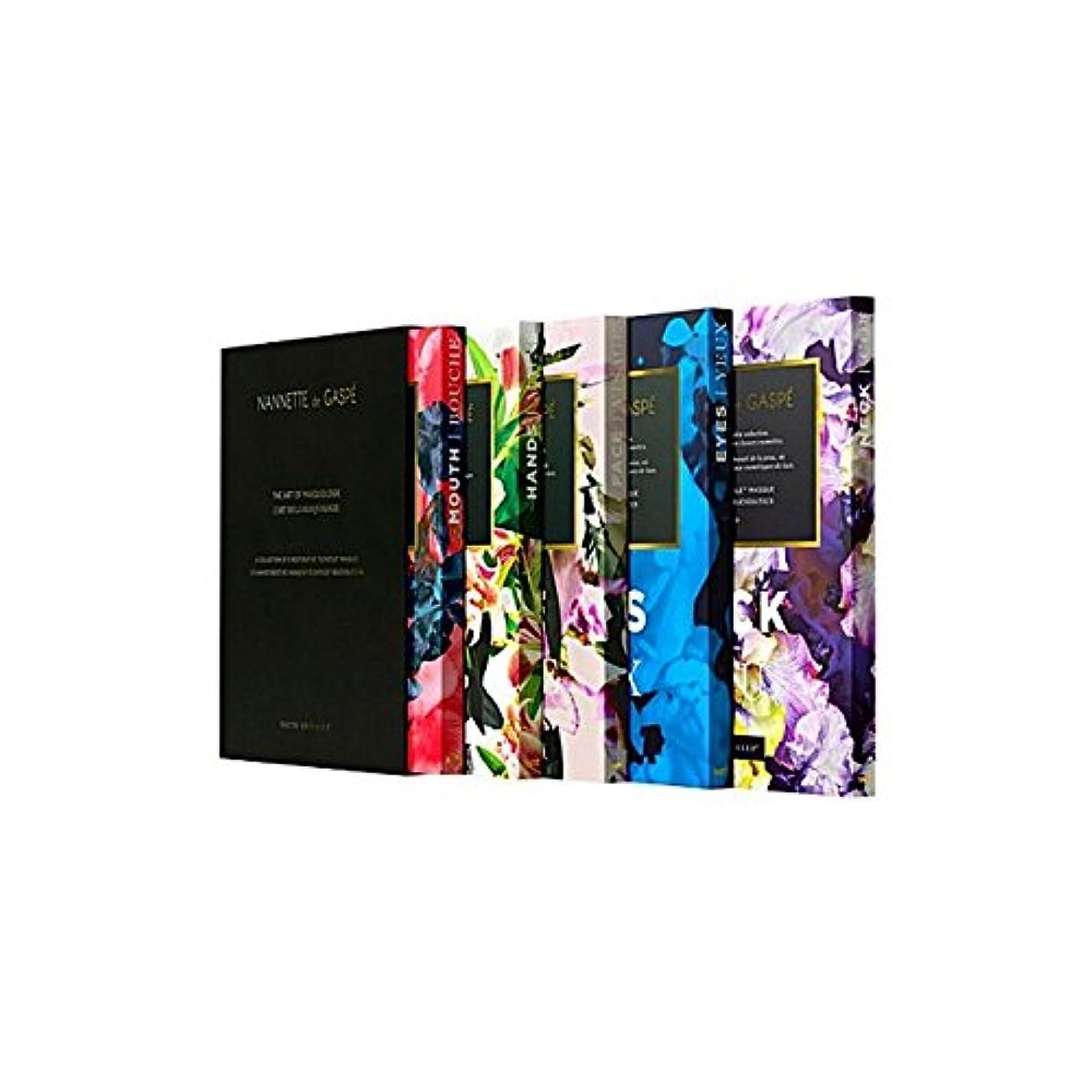 すべき対称アラブサラボデガスペ修復仮面劇コフレ x4 - Nannette De Gaspe Restorative Techstile Masque Coffret (Pack of 4) [並行輸入品]