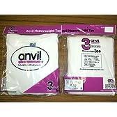アンビル3PパックTシャツ白Lサイズ