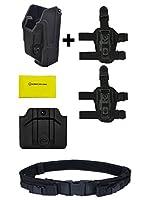 Orpaz Defense RotoパッシブRetentionタクティカルホルスターHeckler & Koch H & K HK USPフルサイズ+デュアル9mmマガジンポーチ+ 2つのセット太ももドロップ脚アダプタ+ Ultimate Arms Gear Pistol Mag Dutyベルト