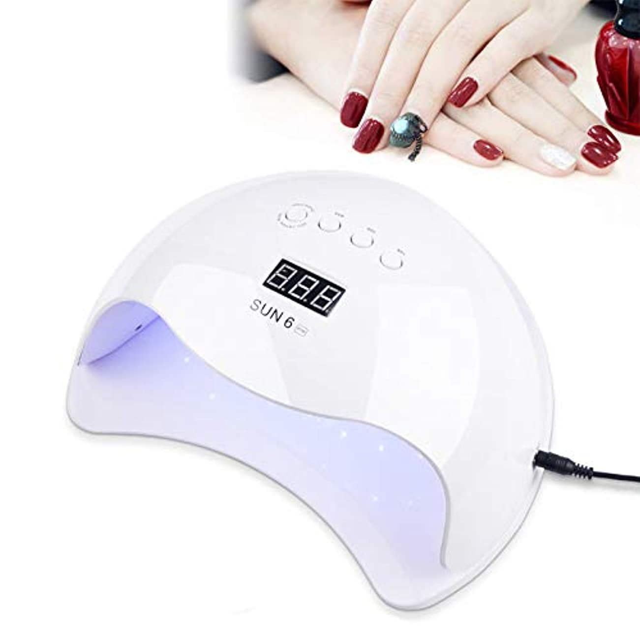 組み合わせる苦しめるポール90W UV LEDネイルライター、ネイルドライヤー速乾性LED UVネイルドライヤー、36個のデュアルソースLED、4つのタイマー設定、爪と足の爪のインテリジェント