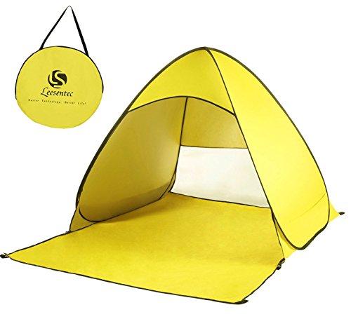 Leesentec サンシェードテント ワンタツチ簡易テント2-3人用テントSPF+50海水浴 砂浜 公園 遠足 ビーチ 最適