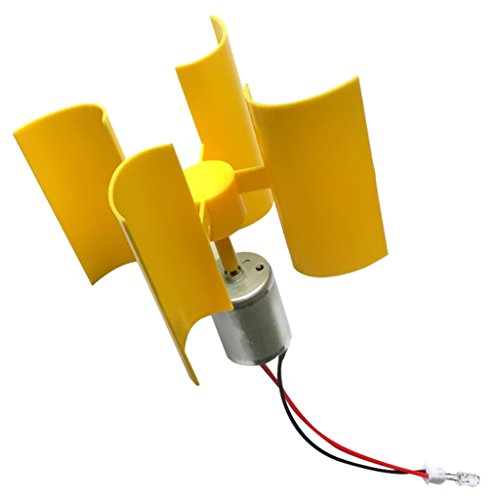 Perfk ミニ 垂直 風力発電機 風車モデルセット キット...