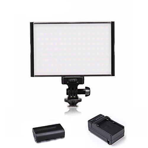[해외]Tolifo 초박형 비디오 라이트 패널 스튜디오 조명 보조 정상 라이트 컬러 필터가있는 디 밍이 가능한 디지털 카메라와 비디오 카메라 촬영 조명/Tolifo Ultra-thin Video Light Panel Studio Lighting Supplementary Steady Light Light with Color ...