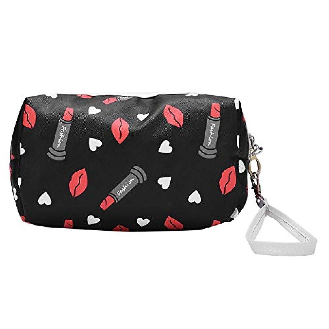 インペリアル超えるに対応ファッショナブルな化粧品バッグポータブル旅行メイクストレージ容器PUレザーウォッシュバッグ(02)