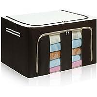 [QIFENGDIANZI]布団収納袋 衣類収納ケース 旅行バッグ  大容量 片づけ 引っ越しバッグ 運搬 防水防塵 湿気防止 カビ対策 水洗い 通気性 コーヒー 60*42*40CM