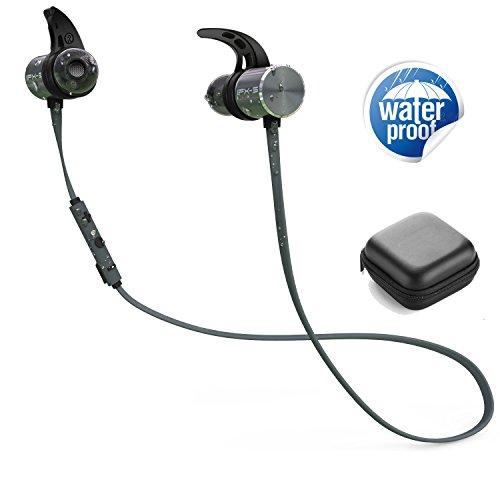 Blingco Plextone BX343 Bluetoothワイヤレス スポーツ フラット高音質 イヤホン カナル型 マグネット搭載 マイク付き IPX-5防水 超長待機時間 二つ電池内蔵 8時間持続使用 ランニング フィットレスなどの運動に適合、防汗 防滴 グレイ