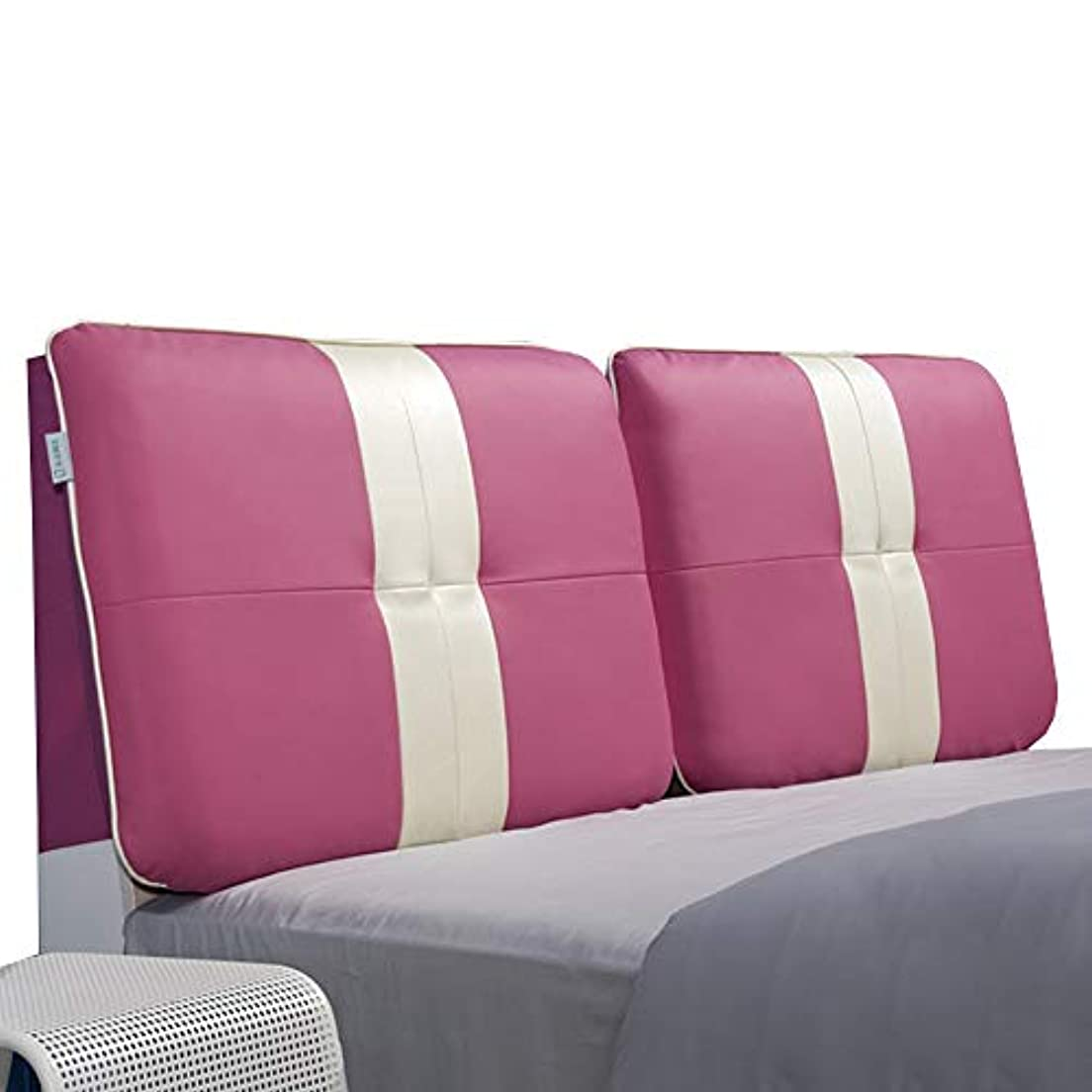 厚さ平らにする寝るLIANGLIANG クションベッドの背もたれ ベッドヘッドレストエクストララージダブルピープルスクラブPU耐久性通気性3色、17サイズ (色 : Pink, サイズ さいず : 155x60x10cm)