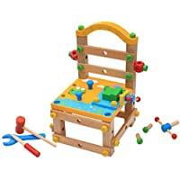 DANNI 子供用 分解 組み立て椅子 おもちゃ ベビー木製 多機能ブロック 子供用ブロック スケールモデル おもちゃ 多機能チェア