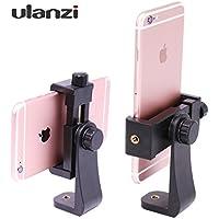 Ulanzi スマートフォンホルダー iPhone用三脚スタンド 三脚・一脚用ネジアダプター 360度回転可能 自撮り棒…
