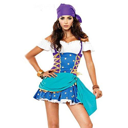 スピナス ハロウィン レディース 海賊 パーティー パレード お宝を探せ!ワルな海賊でもミニでキュートな小悪魔系!足見せでセクシーめだっちゃおう! (海賊ブルー)