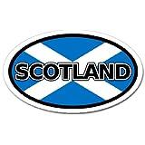 Scotland Flag車バンパーステッカーデカール楕円形