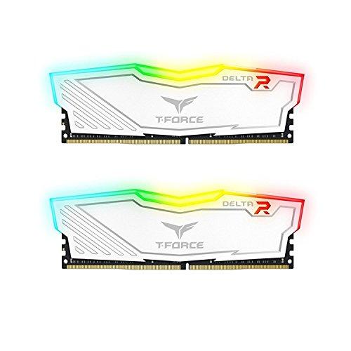 チーム8GB ( 2x 4GB ) t-forceデルタII RGBシリーズddr4pc4...